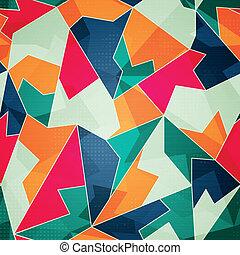 padrão, triangulo, colorido, seamless