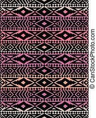 padrão, tribal, mexicano, seamless, aztec