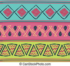 padrão, tribal, motivo, seamless