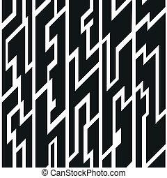 padrão, tribal, pretas, seamless
