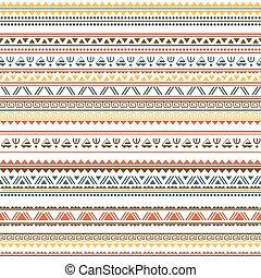 padrão, tribal, seamless, étnico