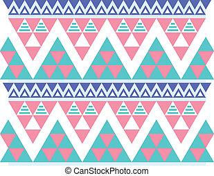 padrão, tribal, seamless, aztec