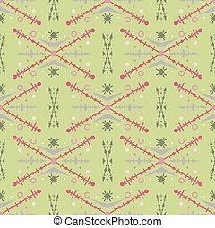 padrão, tribal, seamless, verde, étnico, style.