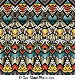 padrão, tribal, vetorial