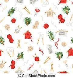 padrão, tricotando, cozy