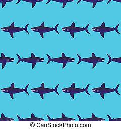 padrão, tubarão, seamless