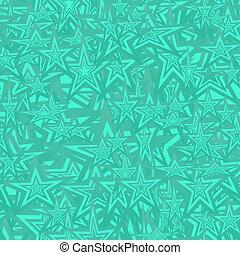 padrão, turquesa, estrela, seamless