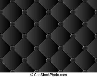 padrão, upholstery, pretas