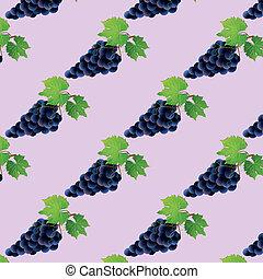 padrão, uva, seamless, fundo, pretas