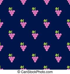 padrão, uva, seamless, fundo