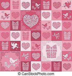padrão, valentines, seamless