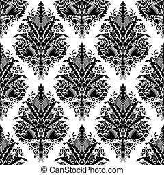 padrão, vector., damasco, seamless