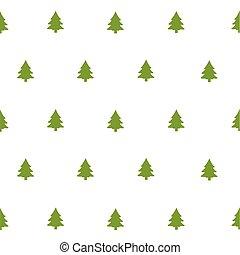 padrão, verde, árvores natal
