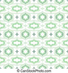 padrão, verde, arabescos, árabe, hortelã, fresco