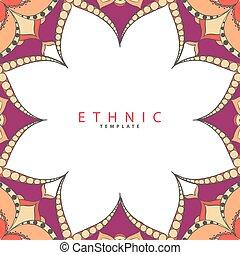 padrão, vetorial, étnico