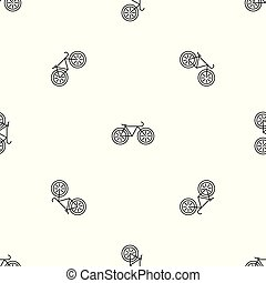 padrão, vetorial, bicicleta, seamless