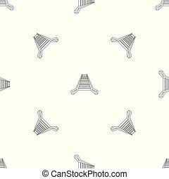 padrão, vetorial, escada rolante, seamless
