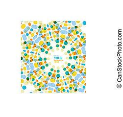 padrão, vetorial, fundo, círculo, geomã©´ricas, mosaico