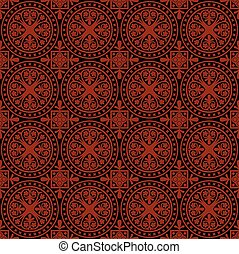 padrão, vetorial, gótico, seamless
