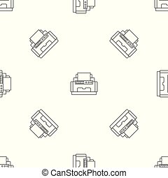 padrão, vetorial, laser, seamless, impressora