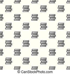 padrão, vetorial, livro, estudante, seamless