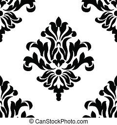 padrão, vetorial, ornamento, seamless