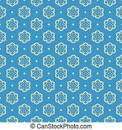 padrão, vetorial, seamless, fundo, snowflake