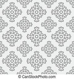 padrão, vetorial, seamless, snowflake