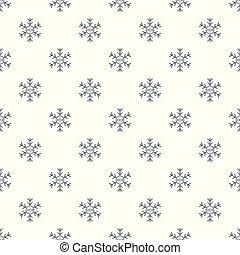 padrão, vetorial, snowflake, seamless