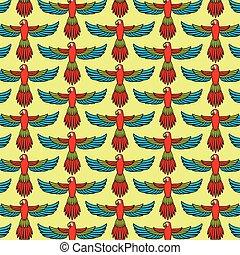 padrão, voando, fundo, papagaio