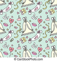 padrão, -wedding, bridal., casamento, seamless