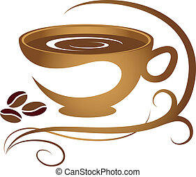 padrão, xícara café