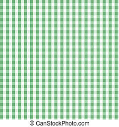 padrão, xadrez, verde, seamless