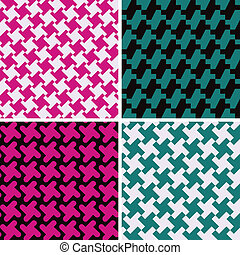 padrões, abstratos, houndstooth