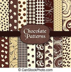 padrões, chocolate