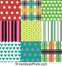 padrões, coloridos