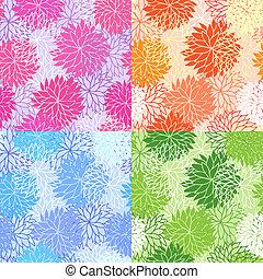padrões florais, jogo, seamless