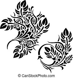 padrões florais, vetorial, desenho