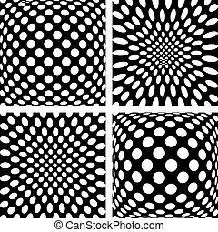 padrões, jogo, côncavo, convexo