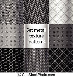 padrões, jogo, metal, seamless, textura