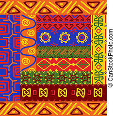 padrões, ornamentos, étnico