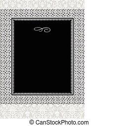 padrões, quadro, vetorial, ornate
