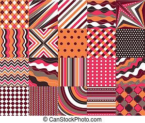 padrões, seamless, textura, tecido
