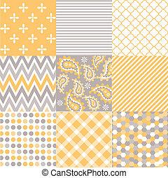 padrões, tecido, seamless, textura