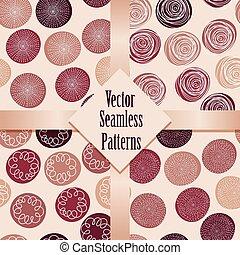 padrões, vetorial, seamless
