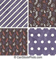 padrões, vetorial, telha, seamless