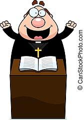 padre, caricatura, sermão