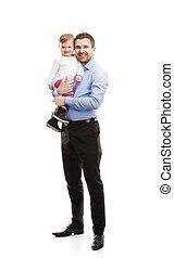 padre, con el niño