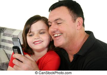 padre, e, giovane figlia, 3