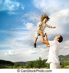 padre e hijo, juego